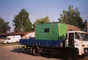Transport of Accoustic Hood  - Royal Brewery at Krušovice